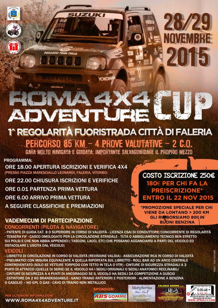 Roma 4X4 Advendure Cup LOCANDINA