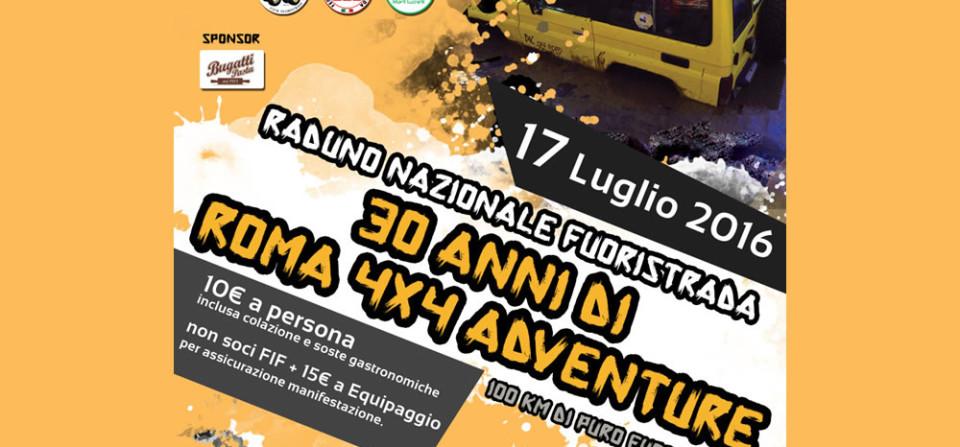 """Raduno Nazionale """"30 anni di Roma 4×4 Adventure"""""""