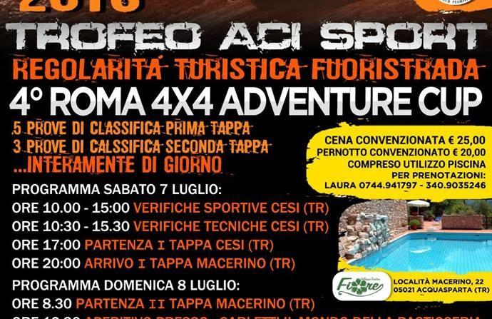 4° Roma 4×4 Adventure CUP
